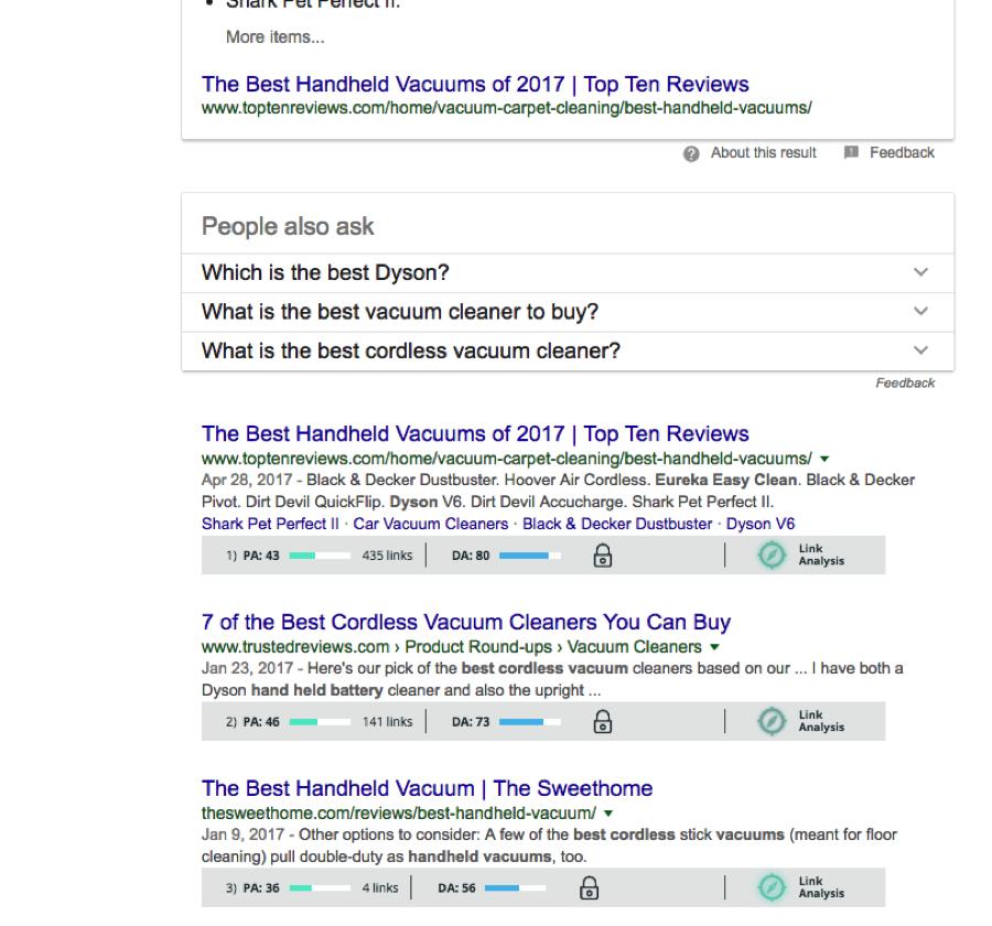 Mozbar Search Results